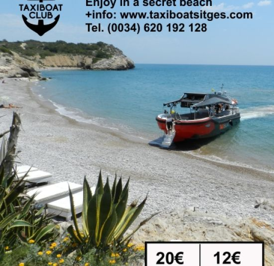 Taxiboat Cala Inaccesible Sitges